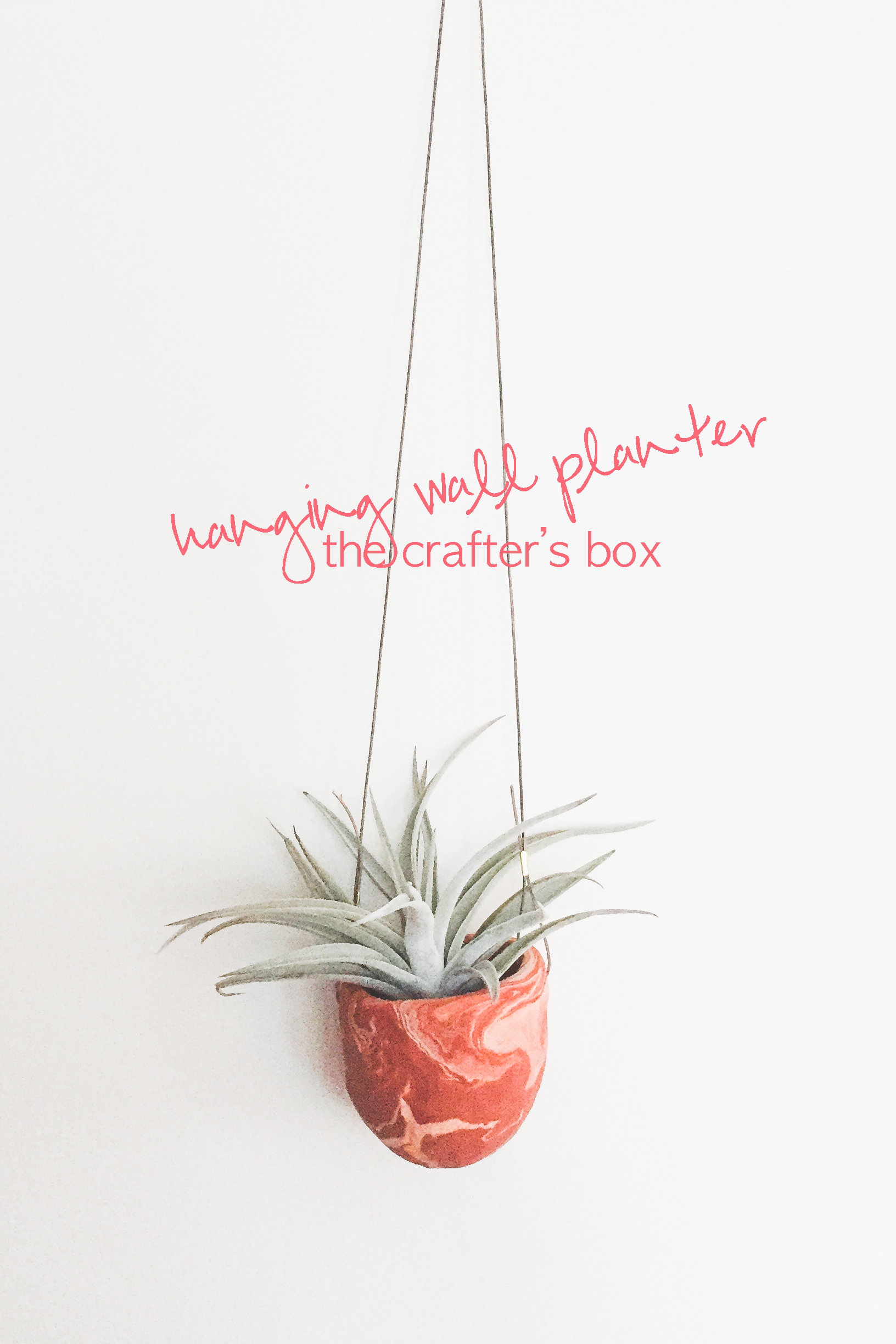 crafter's box hanging planter